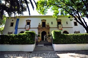 Sevilla, Exposición Iberoamericana de 1929, Fachada Sureste del Pabellón de los Estados Unidos de América