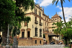 Sevilla, Exposición Iberoamericana de 1929, Fachada principal del Gran Hotel Alfonso XIII