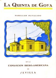 Sevilla, Exposición Iberoamericana de 1929, Portada de la Memoria del Pabellón de la Quinta de Goya con representación gráfica del mismo