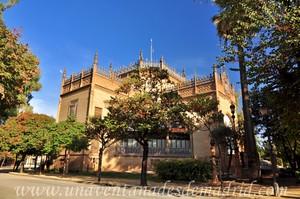 Sevilla, Exposición Iberoamericana de 1929, Vista del Pabellón Real desde el vértice Noroeste