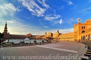Sevilla, Exposici�n Iberoamericana de 1929, Paseo de la Plaza de Espa�a