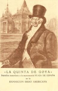 Sevilla, Exposición Iberoamericana de 1929, Postal adjunta a la Memoria del Pabellón de la Quinta de Goya