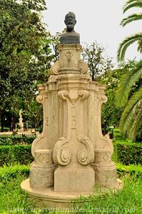 Sevilla, Parque de María Luisa - Jardines de las Delicias, Monumento a Joaquín Sorolla