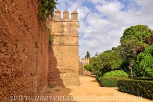 Murallas de Sevilla, Torres de las murallas de los Jardines del Valle