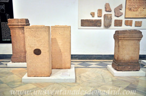 Museo Arqueológico de Sevilla, Epígrafe reutilizado como soporte de decoración escénica