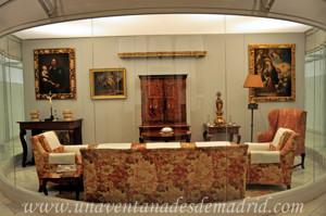 Museo de Artes y Costumbres populares de Sevilla, Sala de estar de la vivienda de la familia Díaz Velázquez