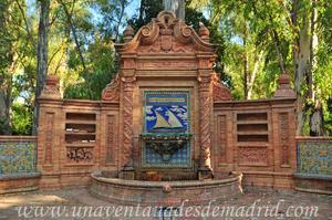 Sevilla, Parque de María Luisa, Cuerpo central de la Glorieta de los Hermanos Álvarez Quintero