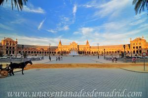 Sevilla, Parque de María Luisa, Plaza de España desde la Torre Sur