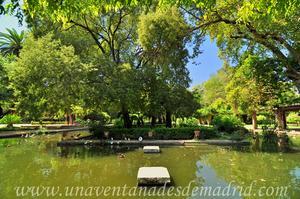 Sevilla, Parque de María Luisa, Alberca central del Estanque de los Lotos