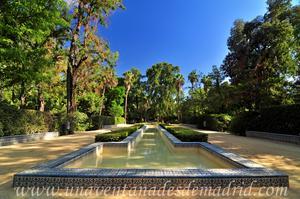 Sevilla, Parque de María Luisa, Estanque en forma de T