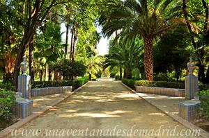 Sevilla, Parque de María Luisa, Rotonda situada entre las Glorietas Azul y de la Concha