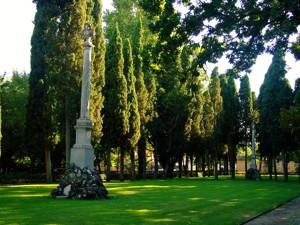 Parque de El Capricho, Parque de El Capricho, Parterre de Los Duelistas