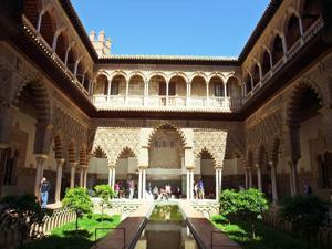 Reales Alcázares, Patio de las doncellas