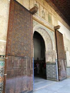 Reales Alcázares, Puerta de entrada al Salón del Techo de Carlos V