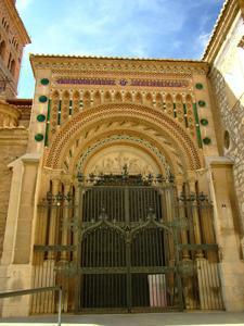 Teruel, Catedral, Portada de Pablo Monguió