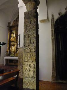 Toledo, Mezquita de El Salvador, columna visigoda