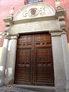 Toledo, Portada del Hospitalito de Santa Ana